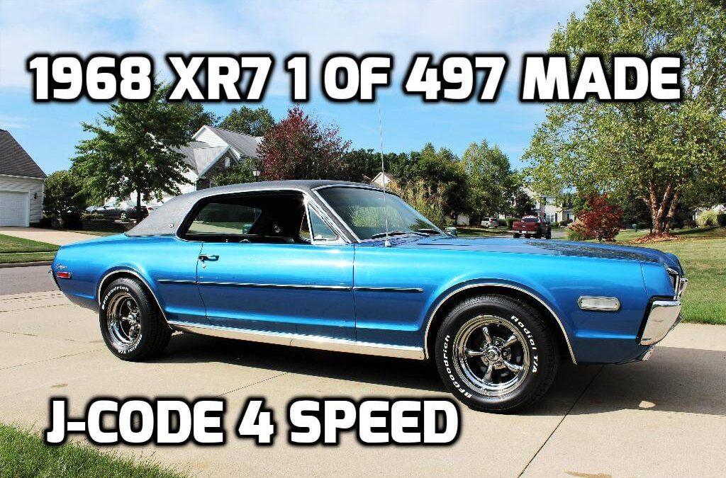 1968 Mercury Cougar XR7    4 Speed J-Code